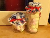 Decorated sweetie jars