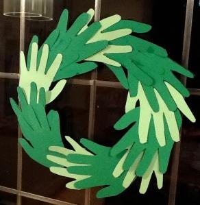 Handprint Christmas garland