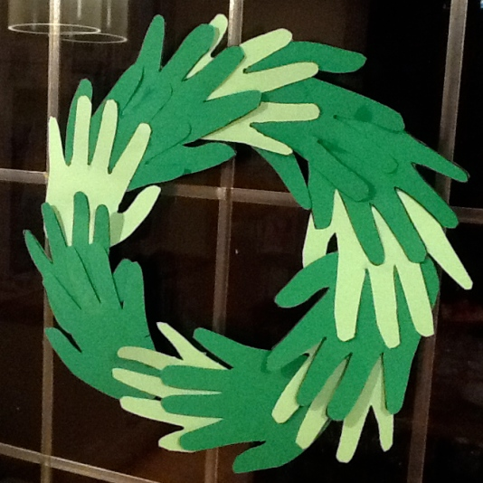 Handprint Christmas garland