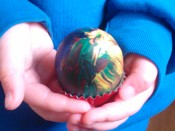 Painted blown egg