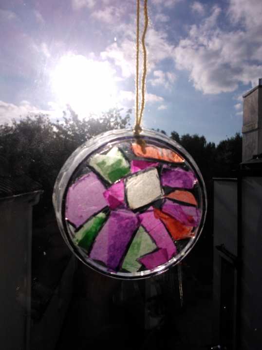 Suncatcher hanging in window