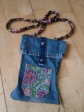 Handbag from denim jeans