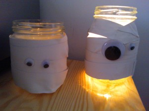 Halloween ghost lanterns