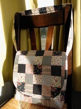 Home sewn messenger bag