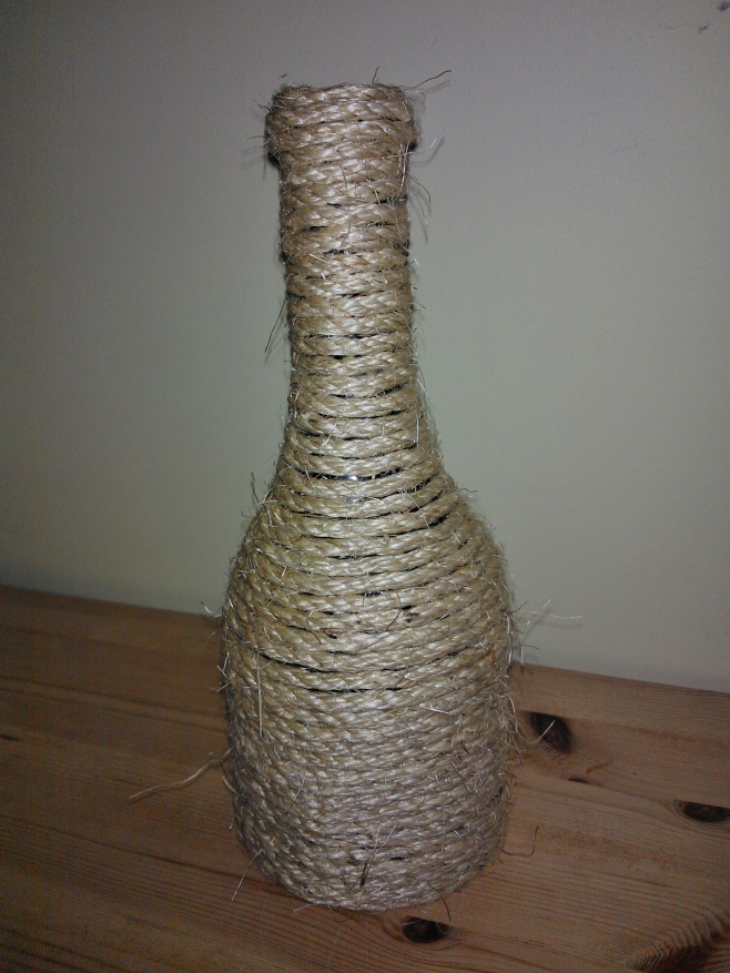 upcycled wine bottle craft