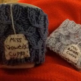knitted mug cosies