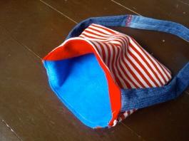 Felt and upcycled fabric bag