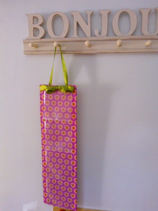 Quick craft project - hanging storage