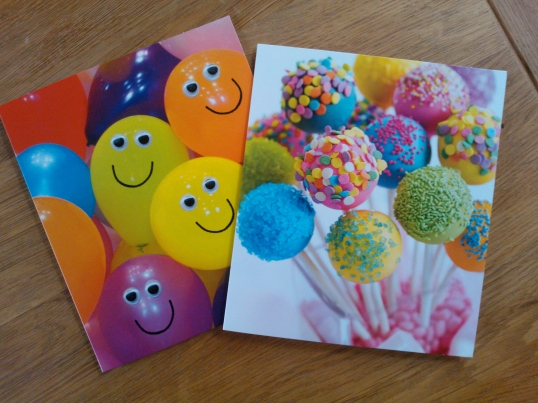 Recycling birthday cards for an Easter game