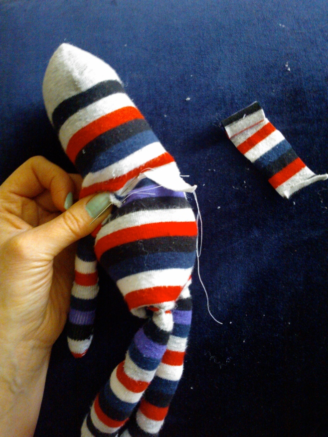 Sewing toys from recycled clothes