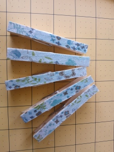 Wooden peg decoupage