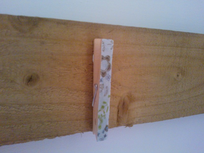 Fabric decoupage clothespin