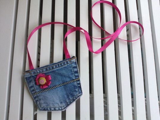 Denim jeans upcycle - purse