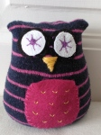 Owl upcycled tooth pillow with pocket