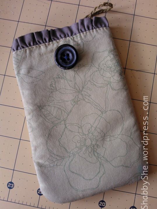 repurposed clothing made into phone case