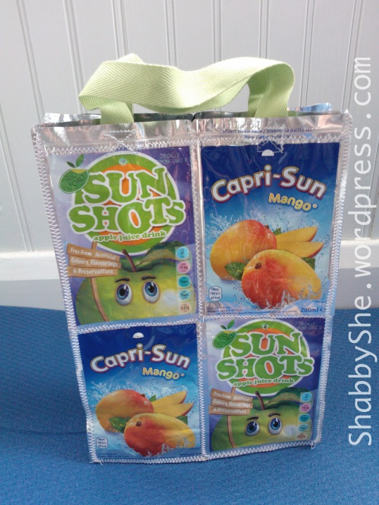 diy upycled juice pouch lunch bag