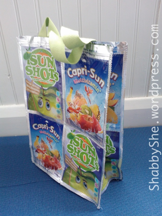 Repurposed juice pouch bag