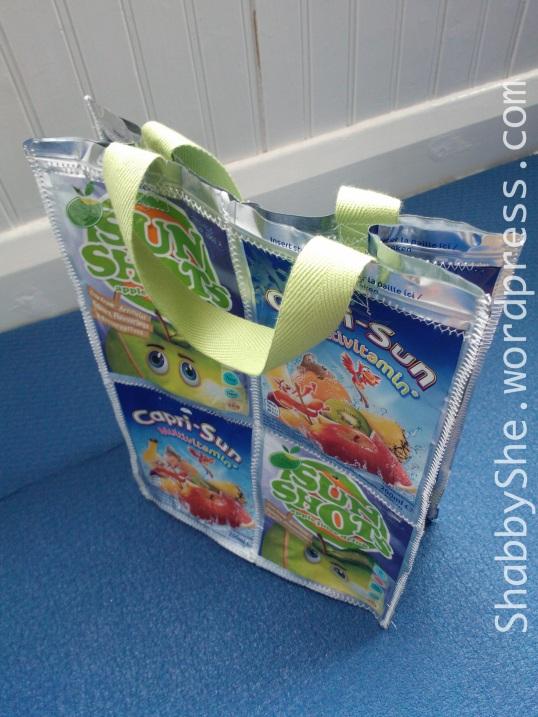 Reusing juice pouches