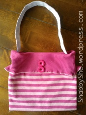 Handmade bag using upcycled clothes