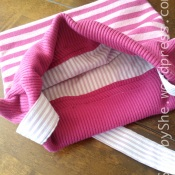 Bag made from woollen dress and shirt