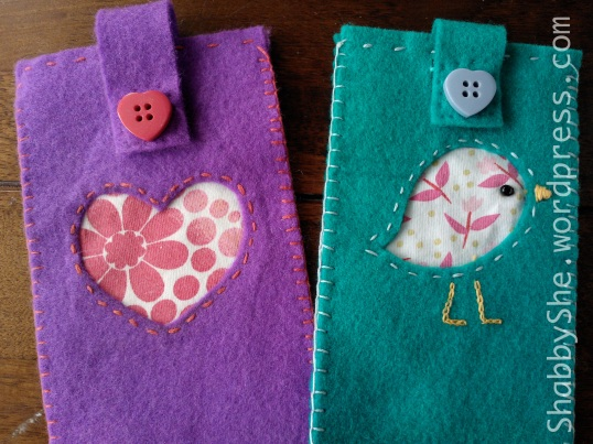 Handmade felt phone cases