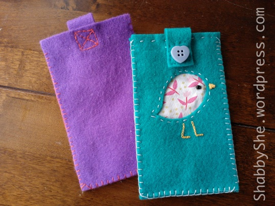 Repurposed clothes phone cases