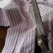 Cutting placket off shirt to use as bag strap