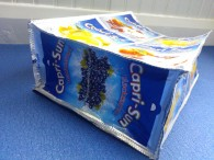 Base view - recycled foil juice pouch bag