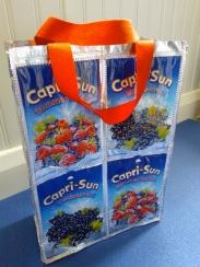 Red Capri Sun lunch bag