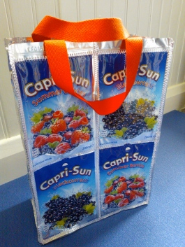 Red Capri Sun lunch bag