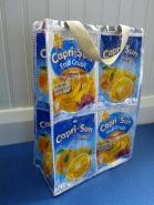 Repurposed juice pouch bag