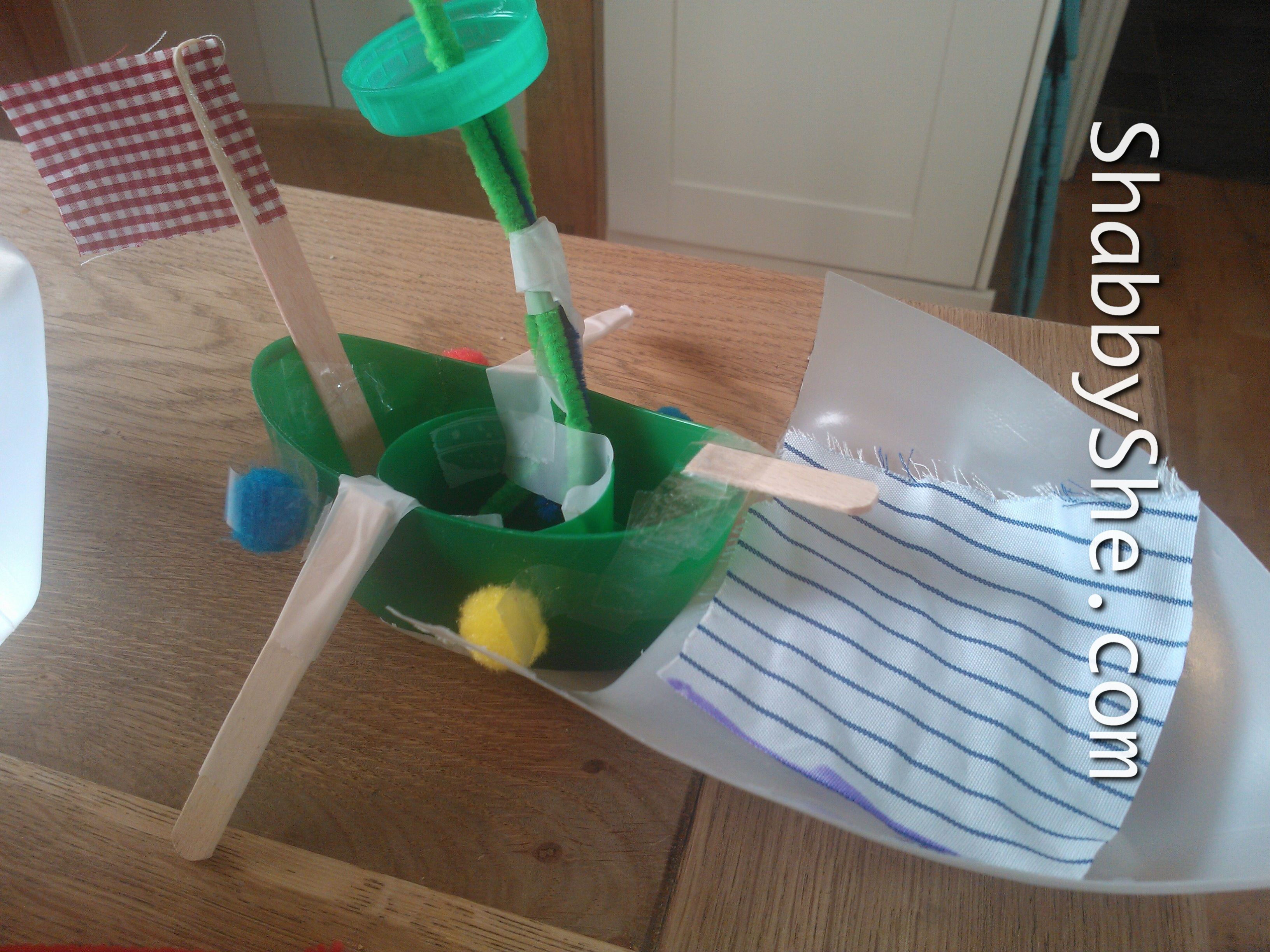 kids craft milk bottle boats shabbyshe
