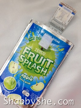 mobile phone case from upcycled juice pouches