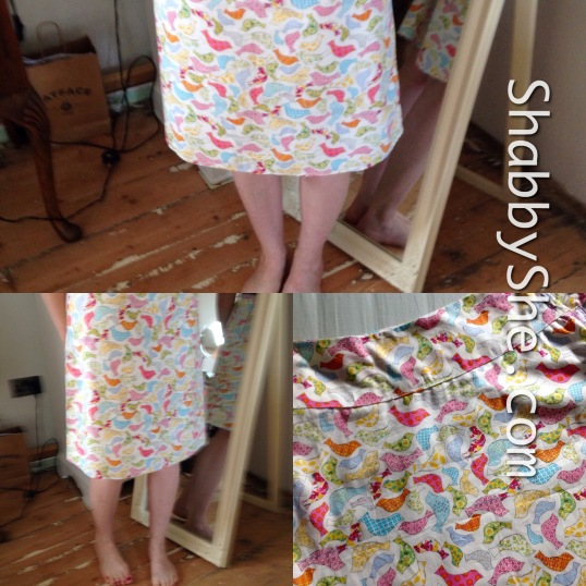 handmade cotton skirt with yoked waistband
