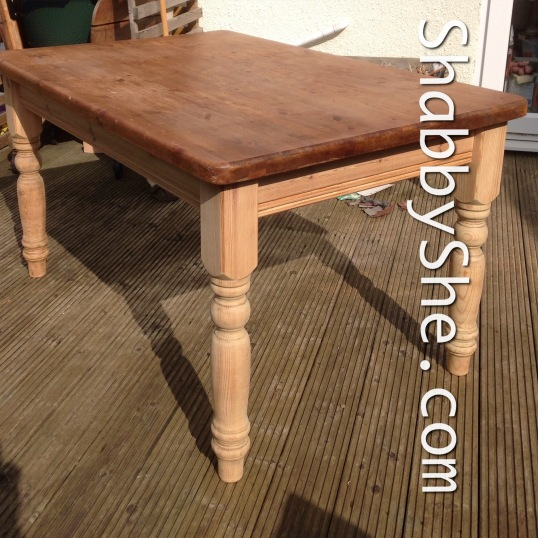 Antique pine table ready for a redo
