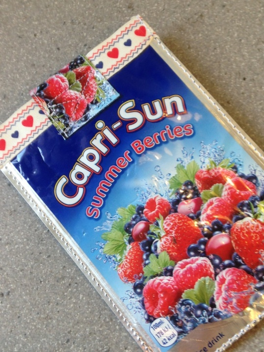 Capri Sun phone pouch by ShabbyShe UK